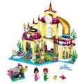 [Bainily] 383 шт. Принцесса Подводный Дворец Девушка lepins Друзья Строительные Блоки Кирпичи Игрушки совместимость legoe друзья для детей подарок