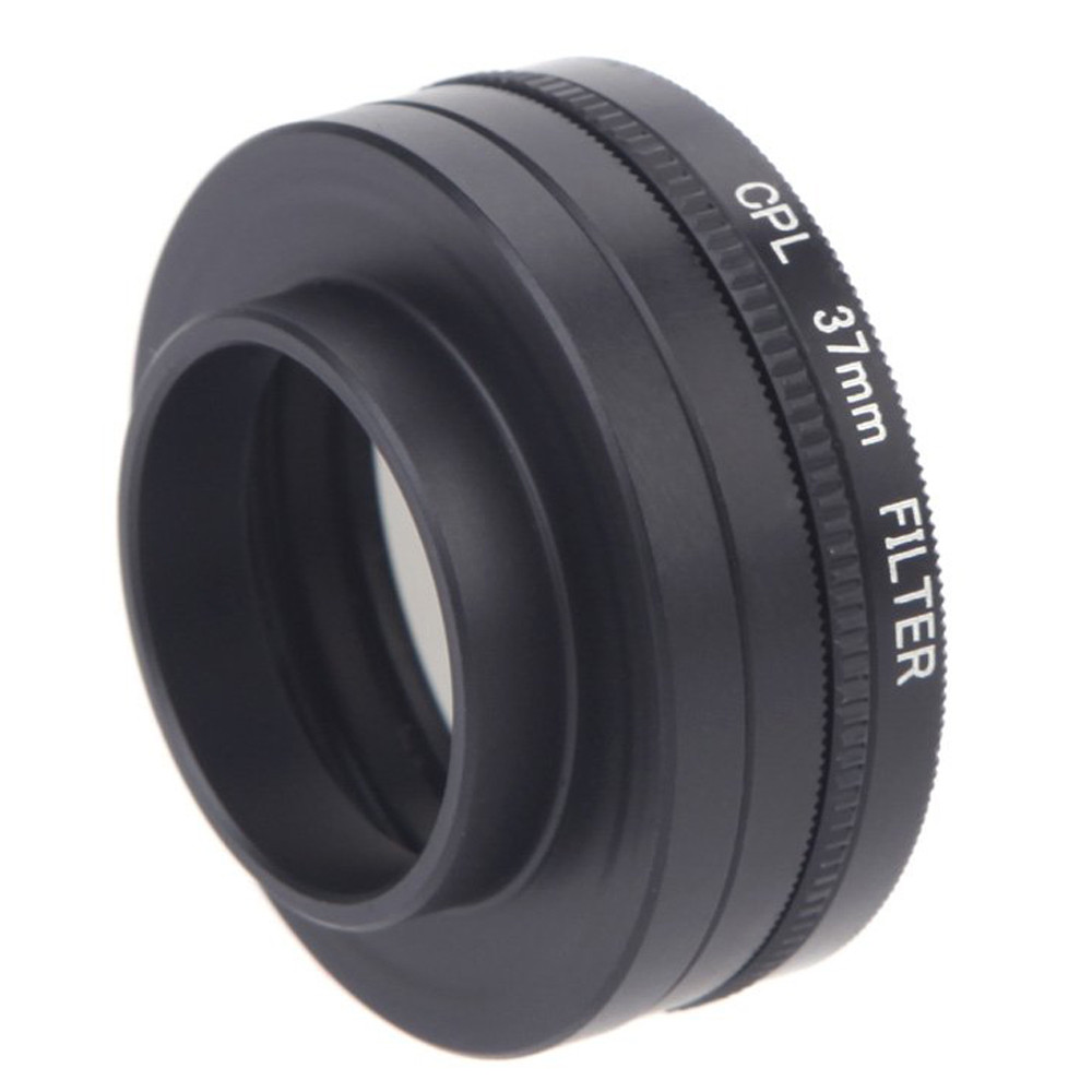5 In 1 37mm CPL UV Filter Lens Cap Adapter Cord for Gopro Hero 3 3 in Camera Filters from Consumer Electronics