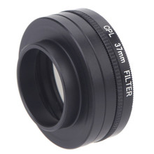 цена на 5 In 1 37mm CPL UV Filter Lens Cap Adapter Cord for Gopro Hero 3/3+