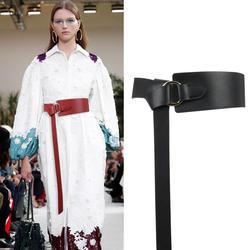 Новый черный широкий корсет женский кожаный пояс галстук Оби Пояс тонкий коричневый лук кожаные ремни для Для женщин пояс для свадебного