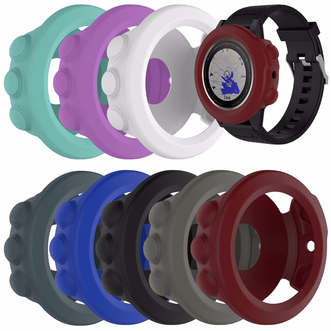 High-quality Silicone Rubber Band Cover Wristband Bracelet Protective Case Skin Protector For Garmin Fenix 5X GPS Watch