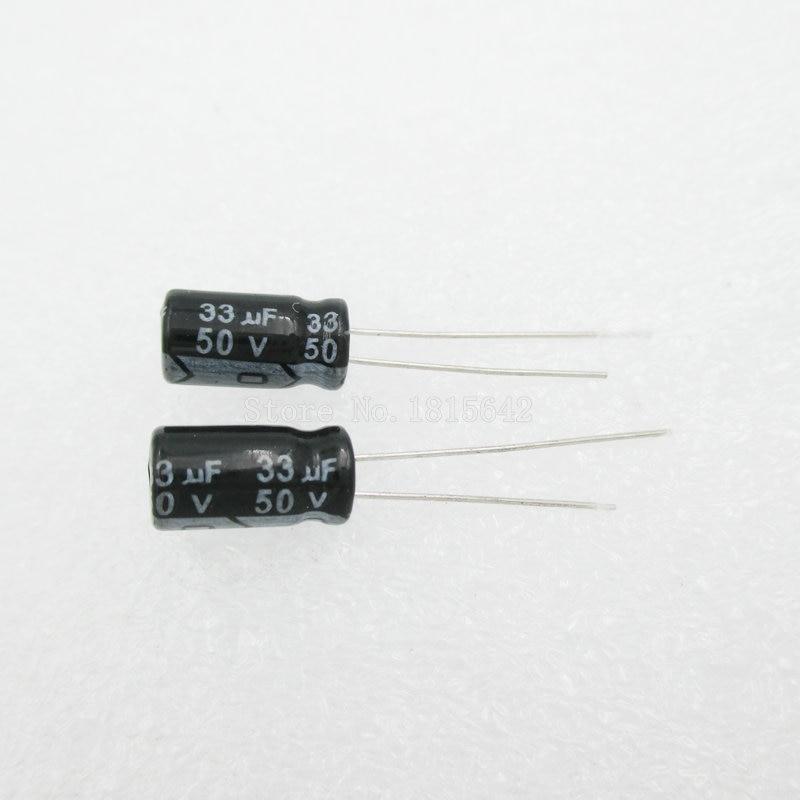 20PCS/LOT 33uF 50V Aluminum Electrolytic Capacitor 6.3*11 Electrolytic Capacitor 50v 33uf