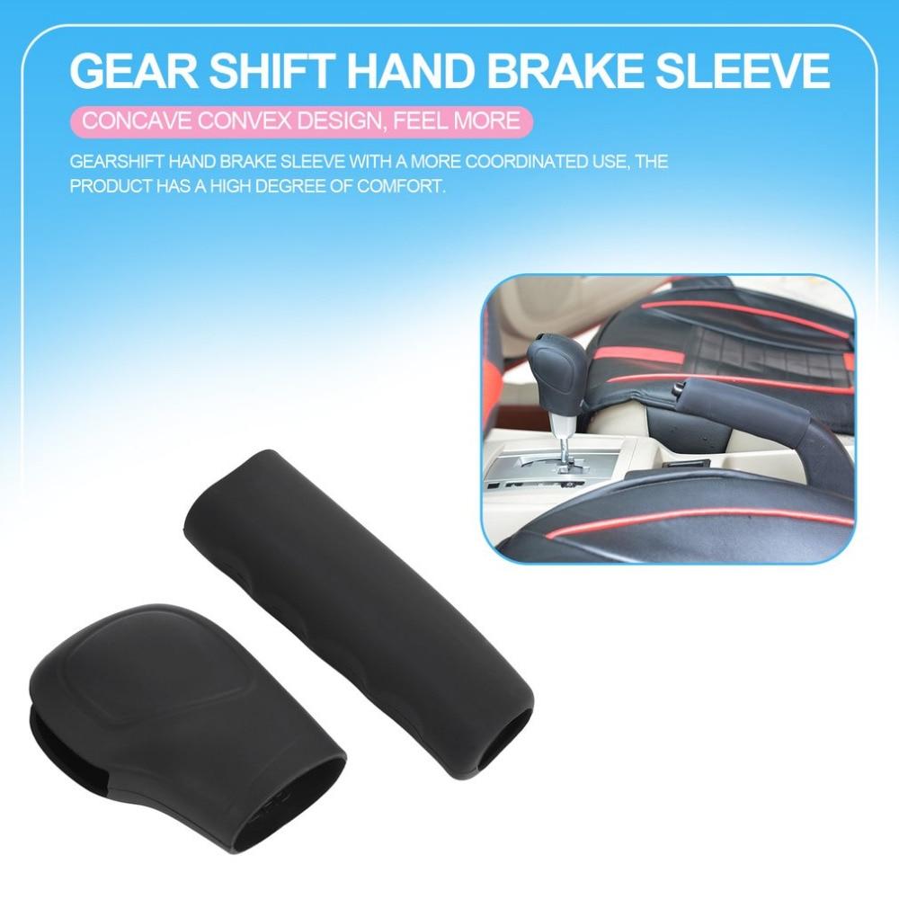 2Pcs Universal Silicone Car Gear Knob Cover Head Glove Gear Collars Handbrake Grips Sleeve Car Hand Brake Covers Drop shipping