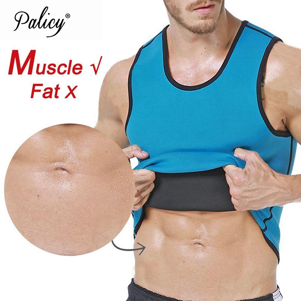 Palicy Sweat Body Shaper Shirt Hot Thermo Sauna Suit Weight Loss Black Shapewear Neoprene Waist Trainer Men Slimming Vest XXXXXL