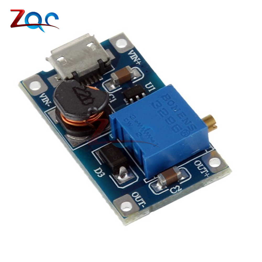 For Replace XL6009 2A Max DC-DC Step Up Power Module MT3608 Micro USB 2-24V To 28V Adjustable Booster For Arduino
