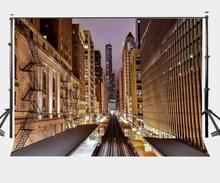 7x5ft Photography Backdrop City Night Scene Background Studio Props
