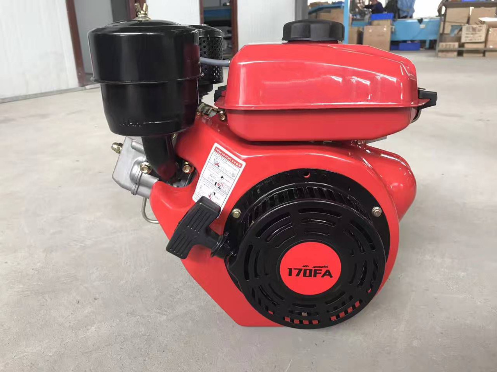 Factory Direct Supply! WSE-170FA 4HP 208CC Horizontal shaft Air Cooled small diesel engine Applied for Water Pump/Generator 6162 63 1015 sa6d170e 6d170 engine water pump for komatsu