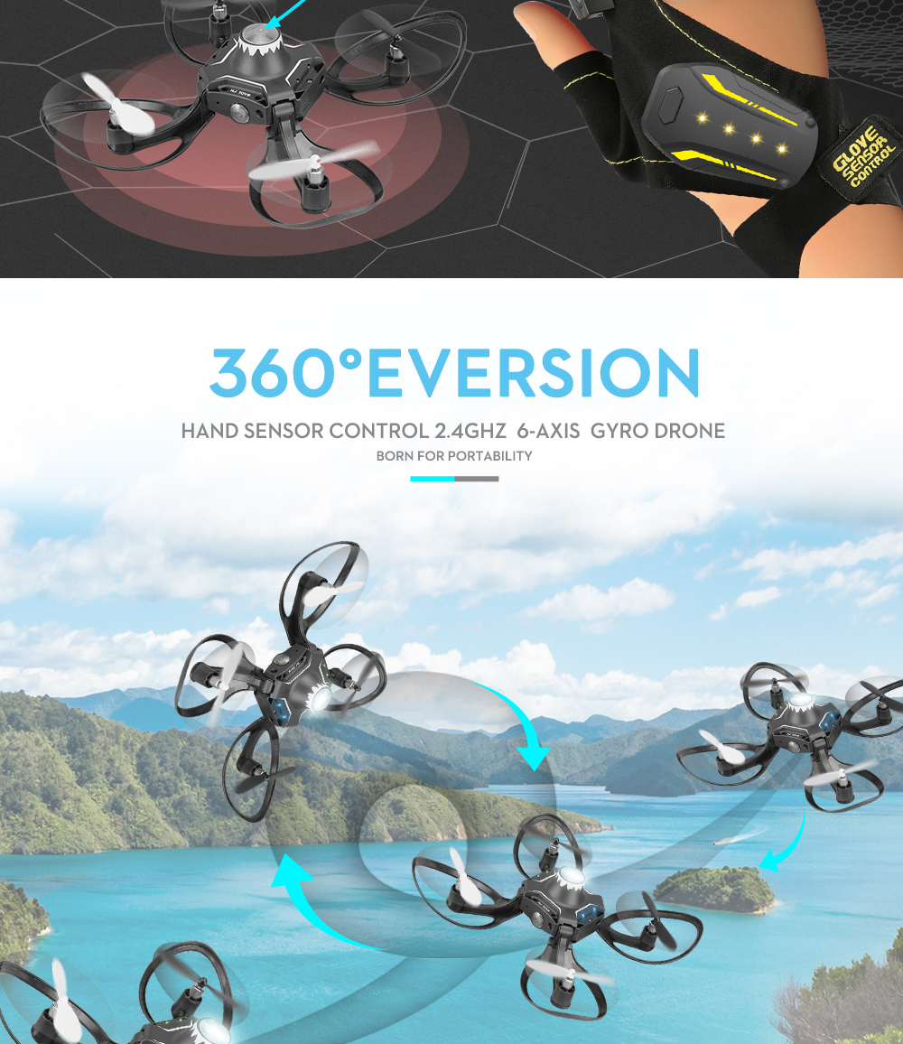 Valcano Gloves Control Mini Drone 14