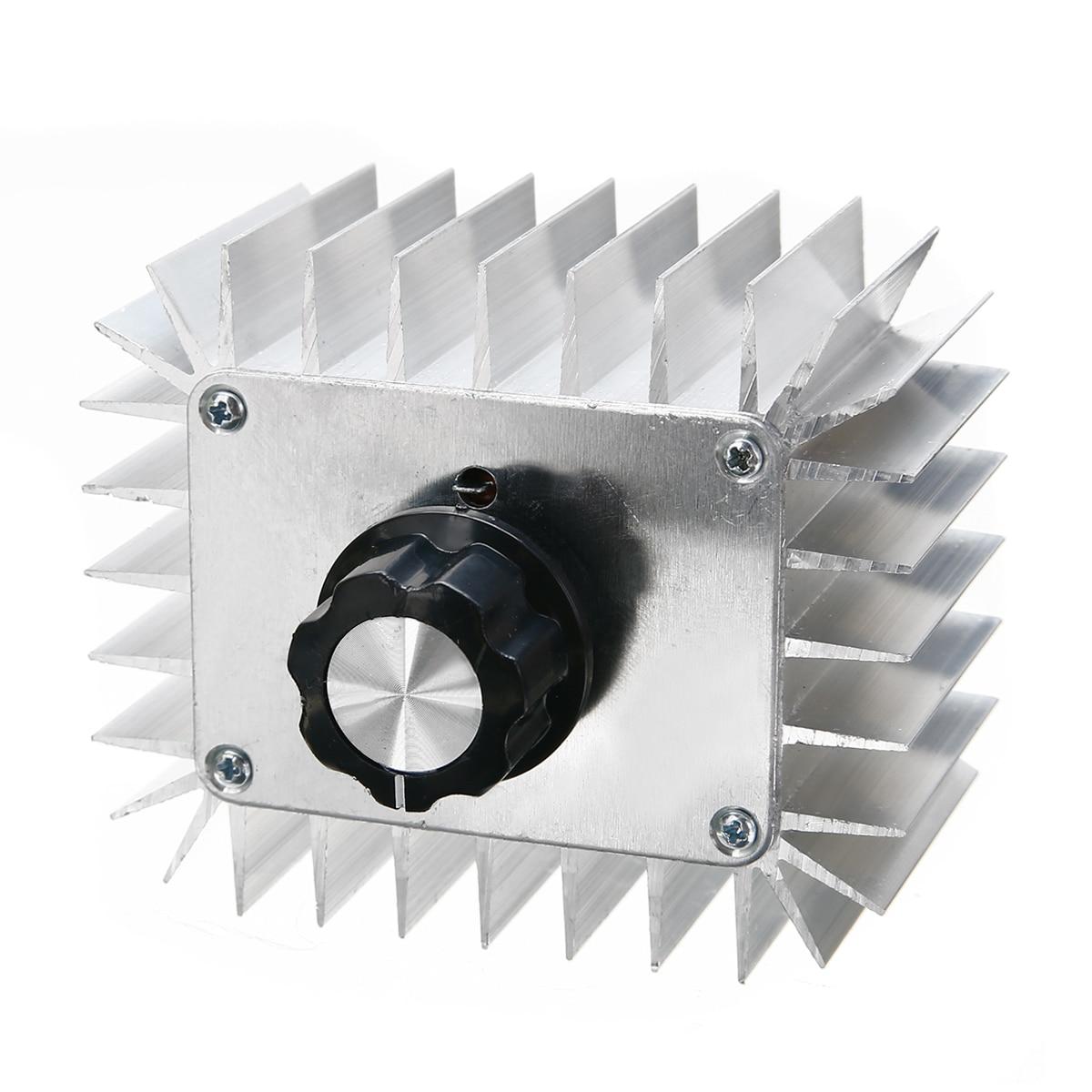 New 5000W SCR Voltage Regulator 220V AC Voltage Regulator Dimmer Electric Motor Speed Controller 85x70x42mm