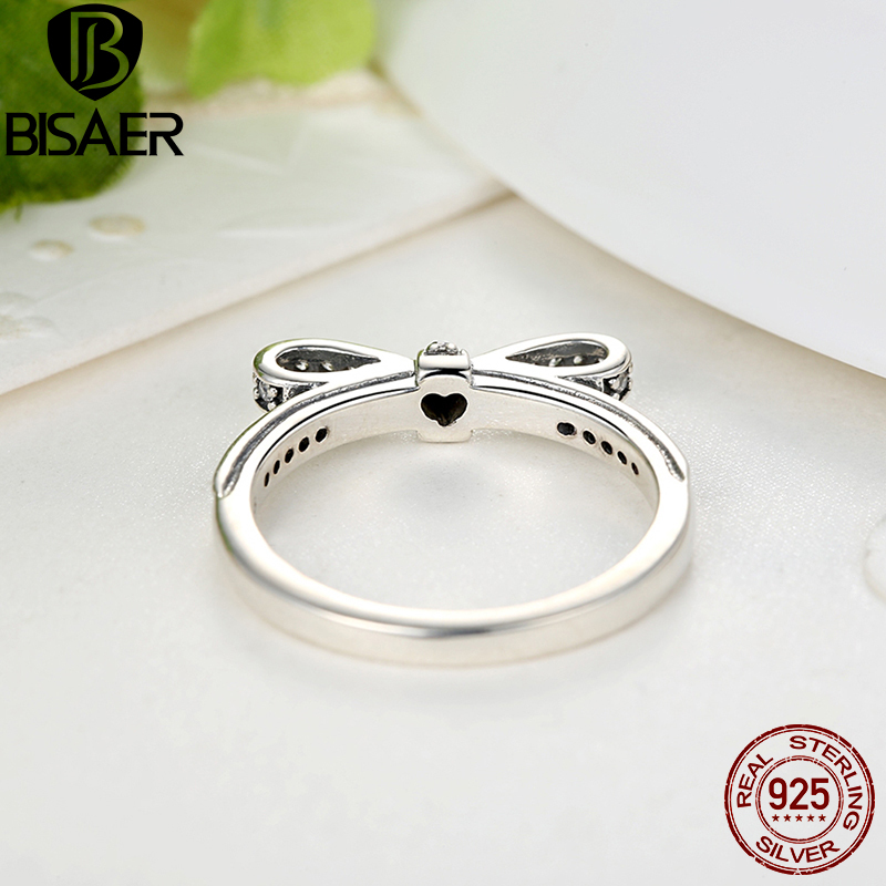 Image 4 - Genuine 925 Sterling Silver Jewelry Set Sparkling Bow Knot Stackable Ring Jewelry Sets Sterling Silver Jewelry WES022silver jewelry setsterling silver jewelry setjewelry sets -
