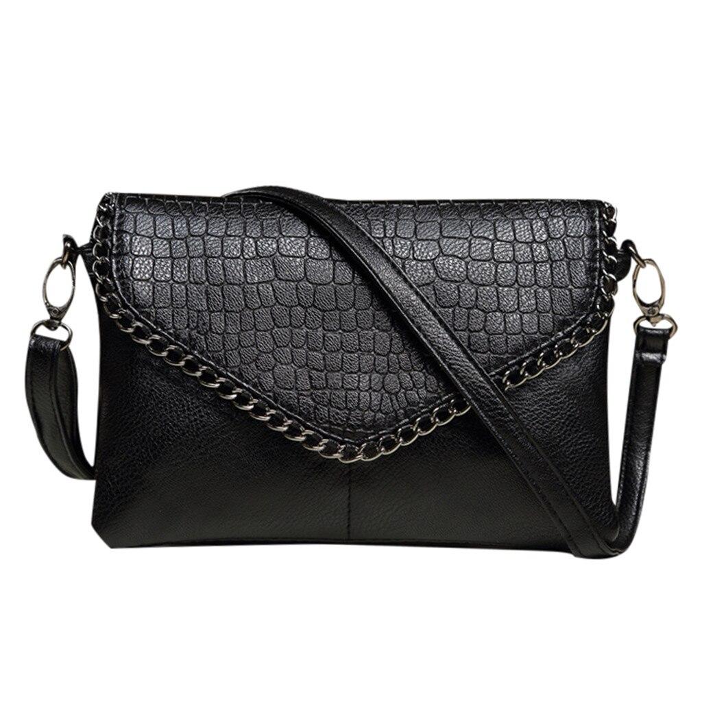 MOLAVE Handbags Zipper Women Bag New Fashion Lady Black Wild Crocodile Pattern Clutch Handbags Elegant Shoulder Crossbody 9329