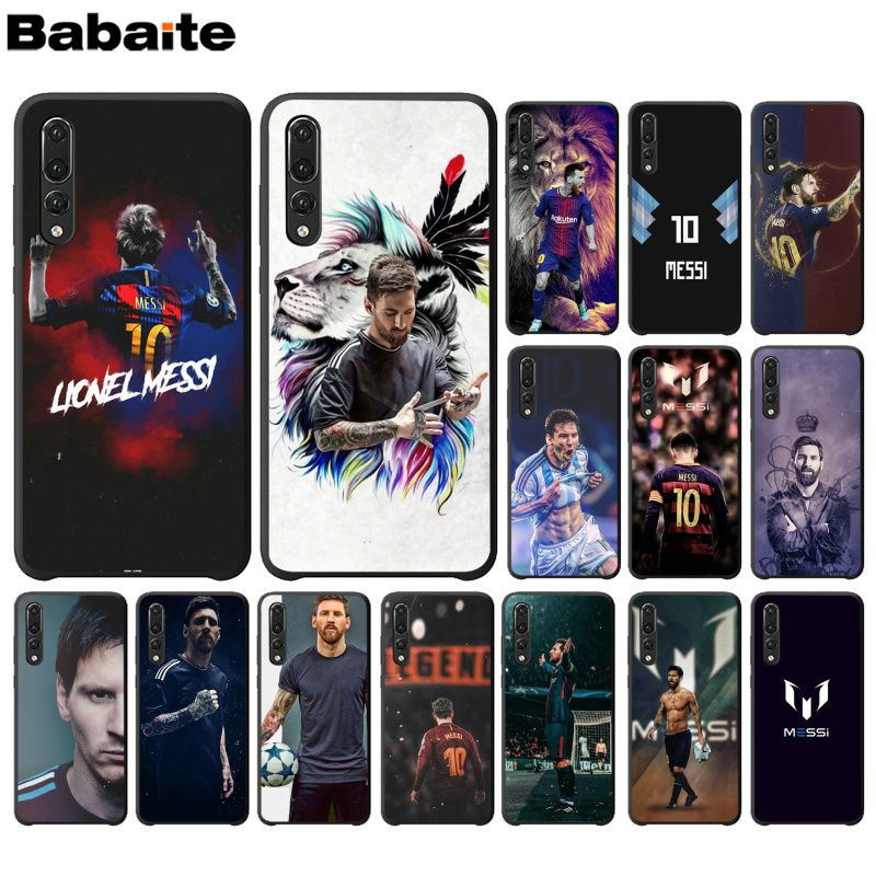 Honesty Babaite Messi Football Novelty Fundas Phone Case Cover For Huawei P10 Plus Lite P20 Pro Mate20 Pro Mate10 Lite P30 Pro Cover To Clear Out Annoyance And Quench Thirst Half-wrapped Case