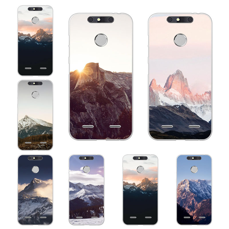zte blade v9 v8 v7 lite v8 mini z10 z601 x3 d2 Case mountain peak Soft TPU Back Cover for zte blade v9 v8 Phone protect Bags