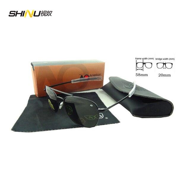 Ao Sunglasses USA Air Force Design Glass Lens Fashion Sunglasses For Men Metal  Sunglasses With Case And Cloth AO58