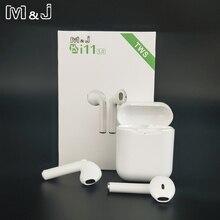 I11 Tws אלחוטי אוזניות Bluetooth 5.0 סטריאו 3D אוזניות I7s מיני אוזניות אוזניות עבור iPhone סמסונג Xiaomi Huawei LG