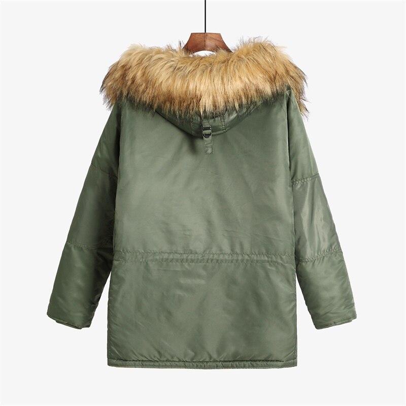 Erkek Kıyafeti'ten Parkalar'de N 3B kış ceket erkekler kürk hood slim fit kalın parka yastıklı askeri ceket soğuk hava için'da  Grup 2