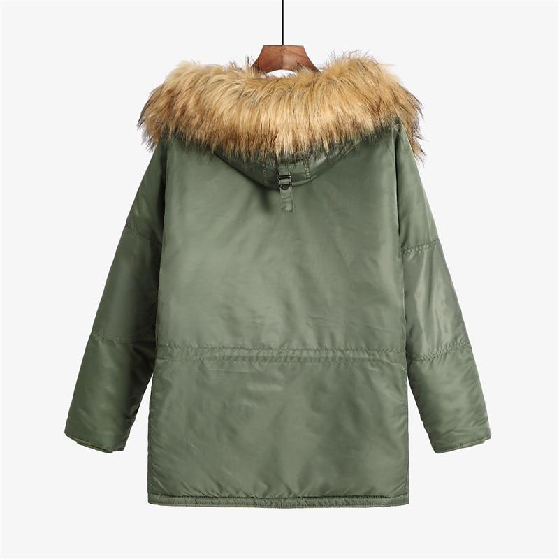 N 3B winter coat men fur hood slim fit thick parka padded military jacket for cold