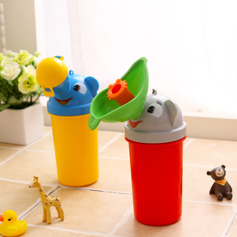 Cute cartoon Baby Boy girl Portable Urinal Travel Car Toilet Kids Vehicular Potty