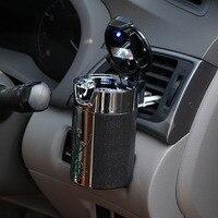 Car Air Outlet Hanging Led Light Cylinder Cup Holder Portable Cigarette Ashtray