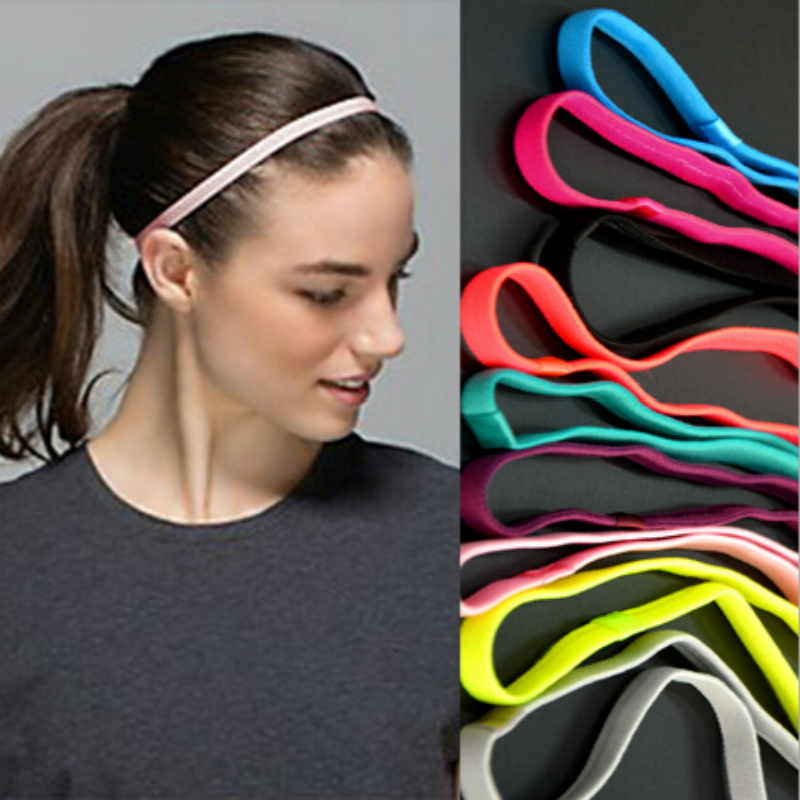 1pcs Thin Sports Elastic Headband Softball Hair Band