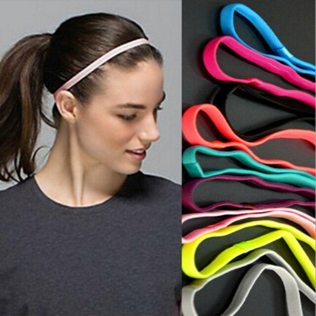 1pcs Thin Sports Elastic Headband Softball Hair Band Rubber Anti-Slip Women  Hair Accessories Bandage Scrunchy 079c871b10d