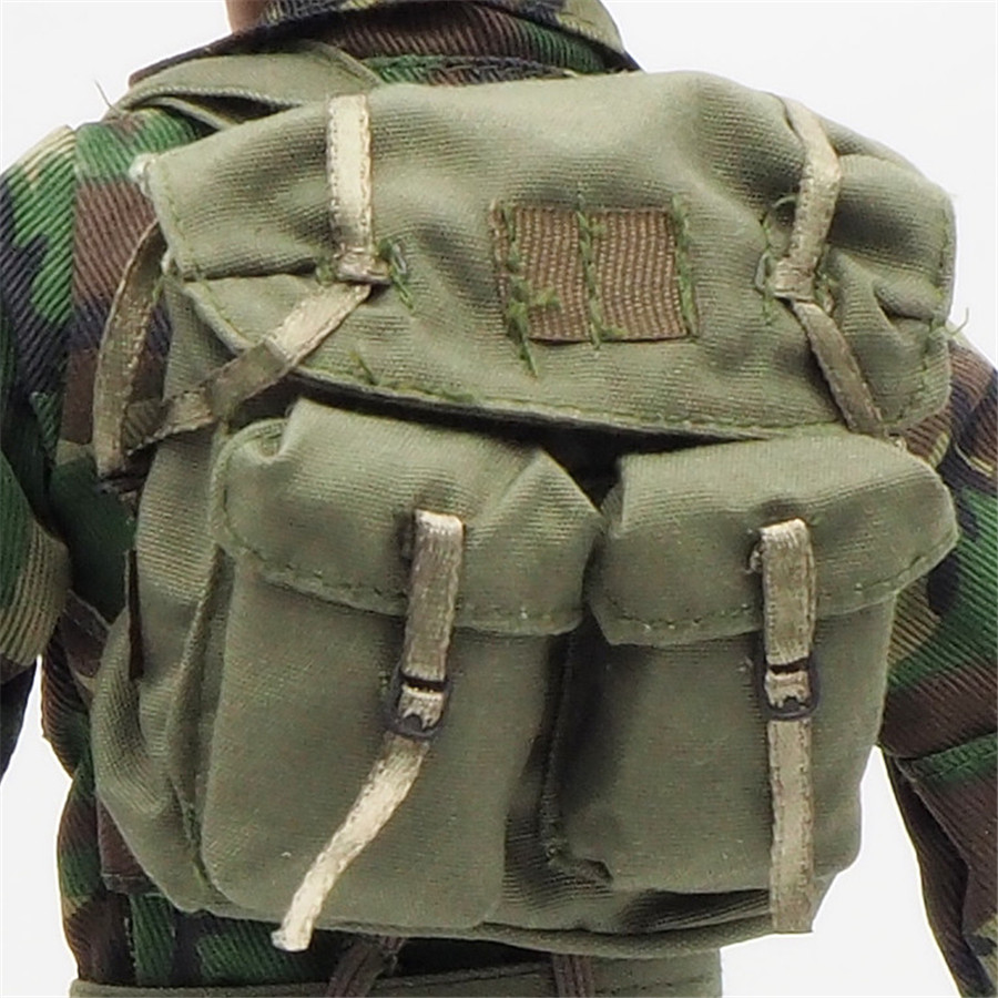 <font><b>1/6</b></font> <font><b>Scale</b></font> Uniforms Outfits BackPack Olive For 12inch Male Military Action Figure Body <font><b>Female</b></font> <font><b>Clothes</b></font> 2 pocket image