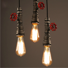 Amercian industry wind loft pendant lamps water pipe retro dining room kitchen bar club cafe restaurant chandelier