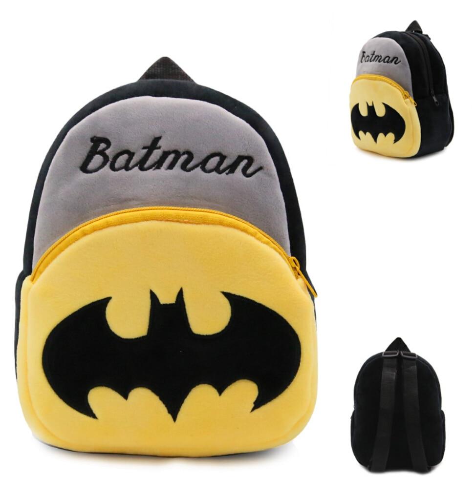 2018 Mochila Feminina Batman Kids Plush Backpack Baby Food Bag Storage Box Zoo 9 Iron Portable Children Packing Picnic Bags