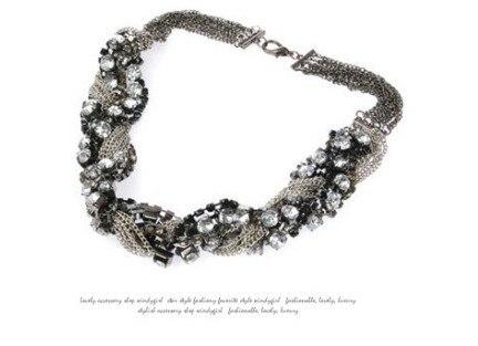 Pesado moda cadeia de cristal gigante poder de cadeia curta curto misturada colar Hot atacado mulheres fine jewelry
