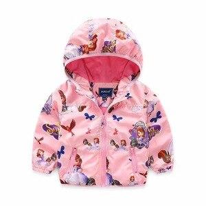 Image 3 - Chaquetas con capucha para niñas, ropa de exterior, abrigo de princesa para niños, chaqueta para bebé, cortavientos, traje rosa, novedad de 2020