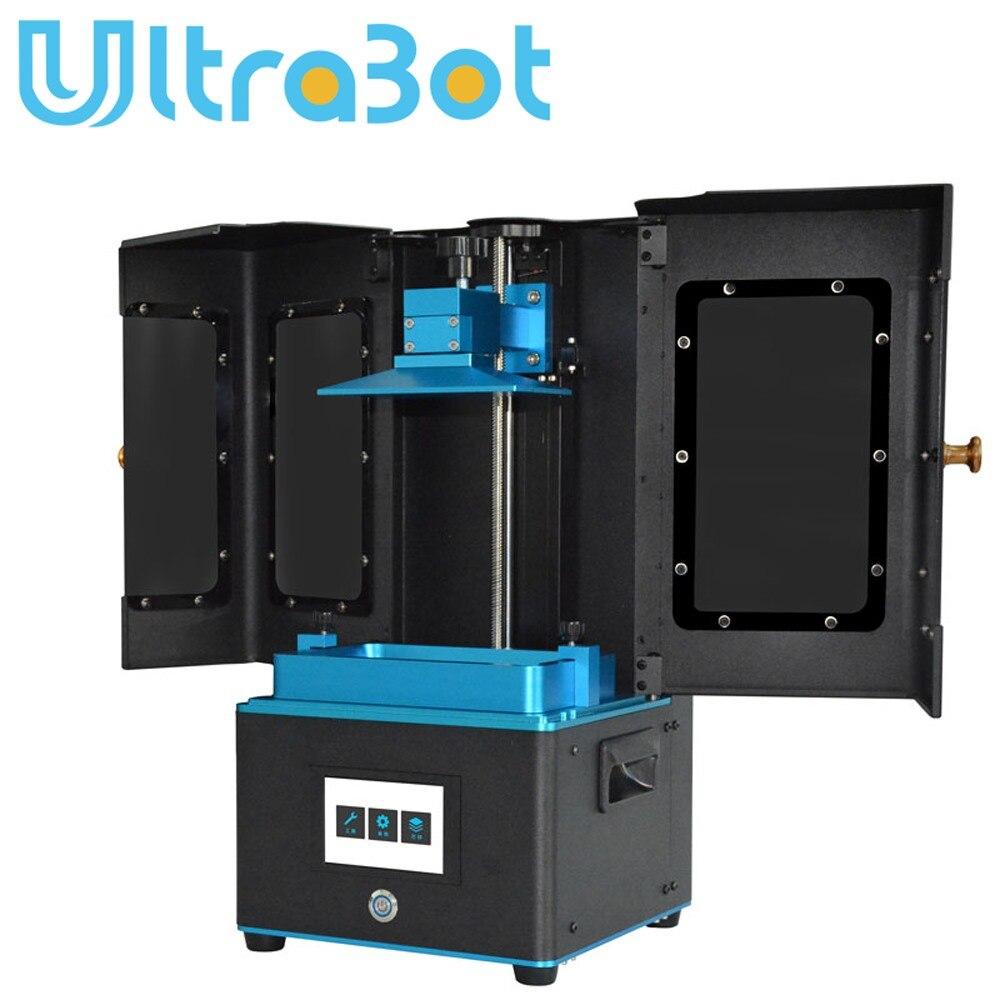Ultrabot nouvelle imprimante LCD/DLP 3d résine UV photopolymérisable Impresora bureau taille d'impression maximale 130*73*180mm