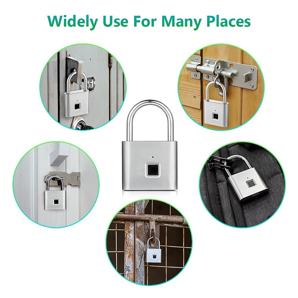 KERUI USB Rechargeable Anti-Theft Security Keyless Electronic Fingerprint Smart Lock Padlock Home Door Bag Luggage Case Lock