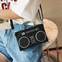 Bags for women bag original attractive Radio small square bag female fashion mini portable small box retro shoulder