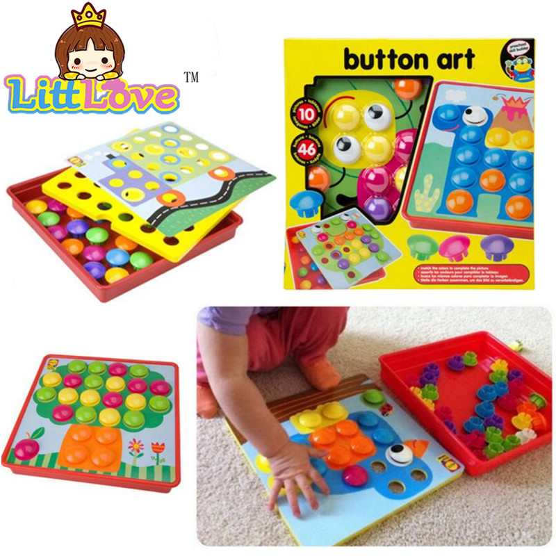 LittLove 3D Teka-teki Mainan Untuk Kanak-kanak Komposit Picture Puzzle Kreatif Mosaic Kit Cendawan Kuku Seni Pendidikan Seni Kanak-kanak Toy