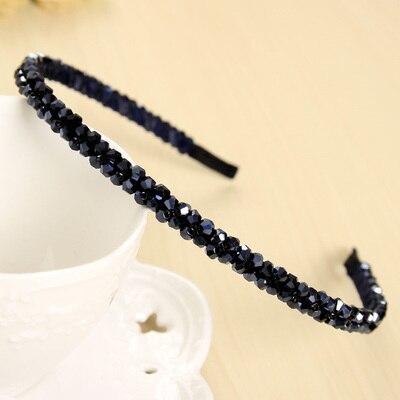 Сияющий кристалл модный современный стиль повязки на голову для девушек головные уборы аксессуары для волос для женщин - Цвет: 2 Row Crystal
