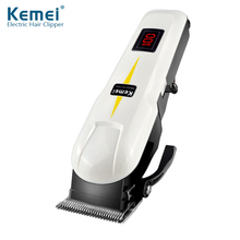 Kemei Electrical Clipper Private Hair Trimmers Scissors Knife Liquid Crystal Show Rechargeable Wi-fi Use Haircut KM-809A