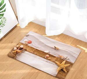 Image 2 - CAMMITEVER Sand Beach Sea Stars Mat Tapete Bathroom Kitchen For Bedroom Area Rug For Living Room
