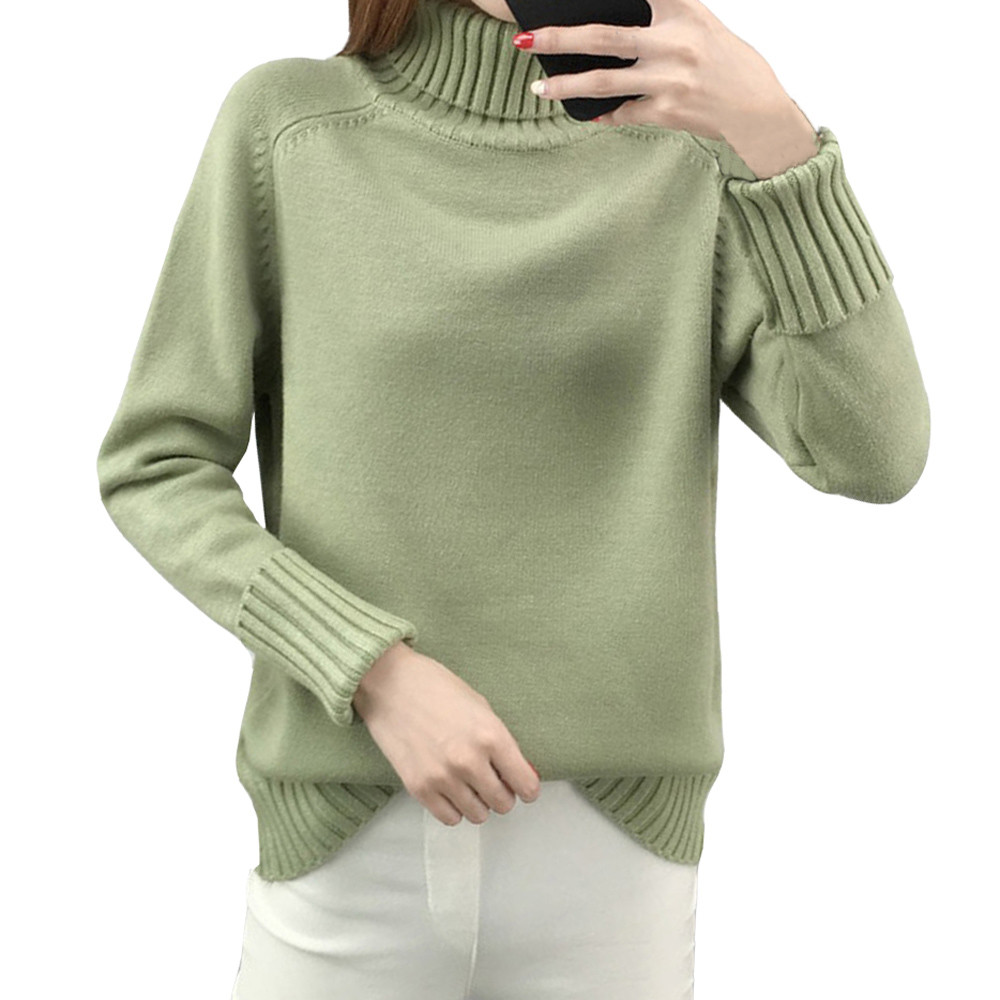 ladies sweater 2018 autumn Korean version beaded long-sleeved knit shirt loose collar long sleeve sweater women's shirt F80