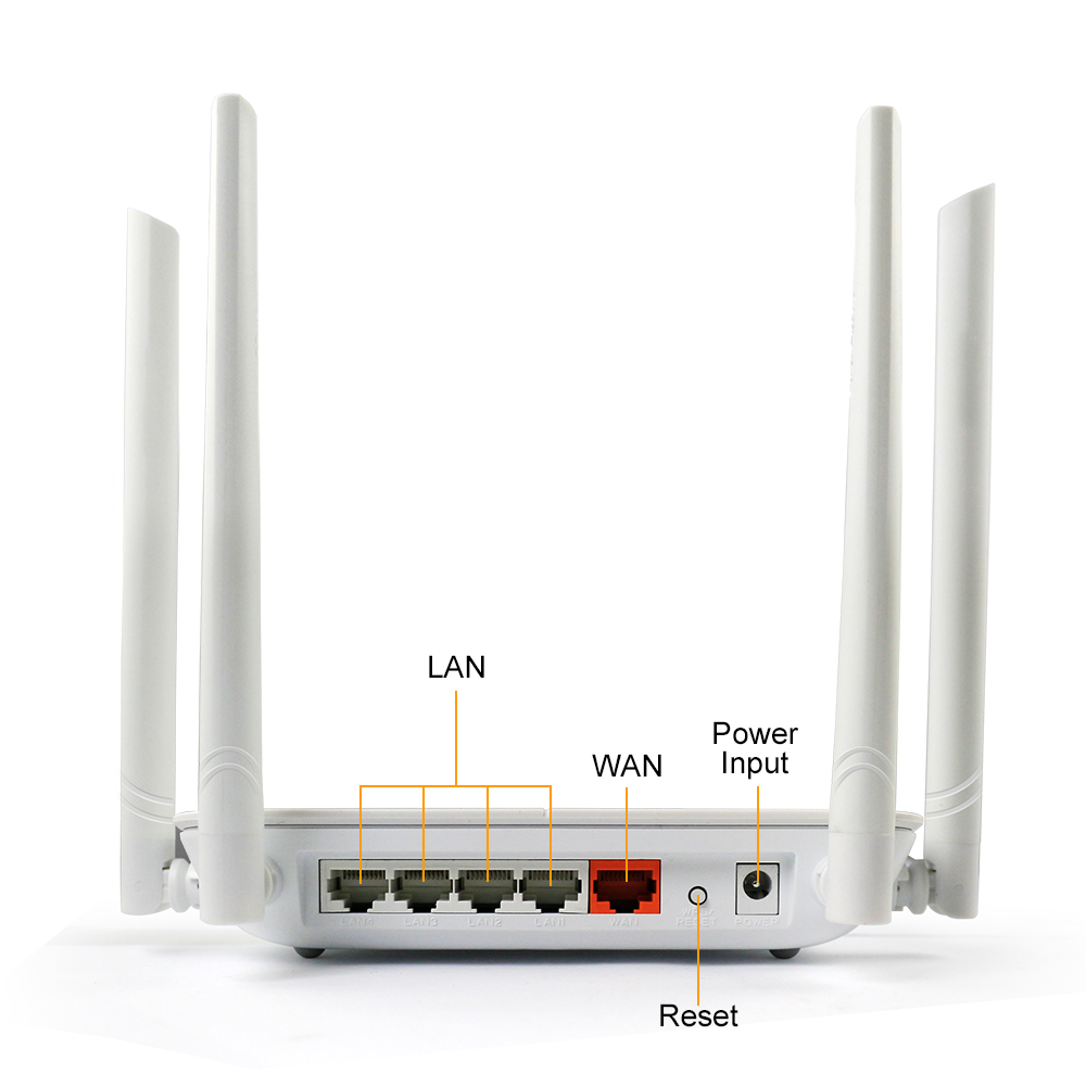 dual-band office/home 5ghz wifi router 1200mbps Wireless Wlan Repeater 802.11ac high power wifi range extender 4*5dbi ante ...