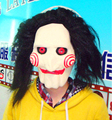 Cosplay Saw Movie Jigsaw Puppet Mask Halloween Full wig Mask Head Latex Creepy Scary Trick Prank toys costume party prop Adult