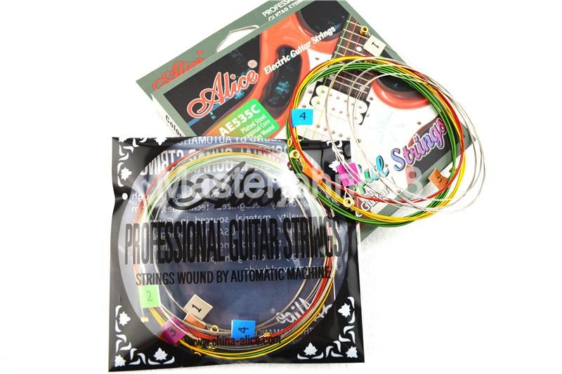Alice AE535C Kleurrijke elektrische gitaarsnaren Verzilverd en - Muziekinstrumenten - Foto 3