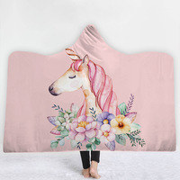 Unicorn Cartoon Potter Super Soft Cozy Throw Blanket In Cap Warm Blanket for Couch Throw Travel Hooded Blanket Anime Blanket MT