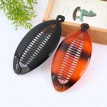SHCXGQN 14cm DIY Fish Shape Hair Claw Clips Banana Barrettes Black Hairpins Accessories For Women Clamp
