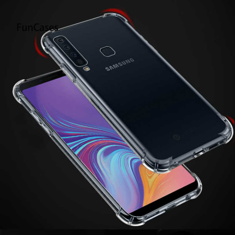 Transparent Phone Cases For Samsung S10 Lite Plus A750 A7 2018 A9S A6S Case Soft Cover For Samsung Galaxy S8 S9 A8 Plus A6 2018