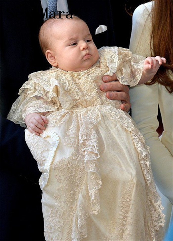 New Baby Infant Girls Christening Gowns With Lace Applique Well-Designed Baptism Dress High Quality Prepared For babies BirthdayNew Baby Infant Girls Christening Gowns With Lace Applique Well-Designed Baptism Dress High Quality Prepared For babies Birthday