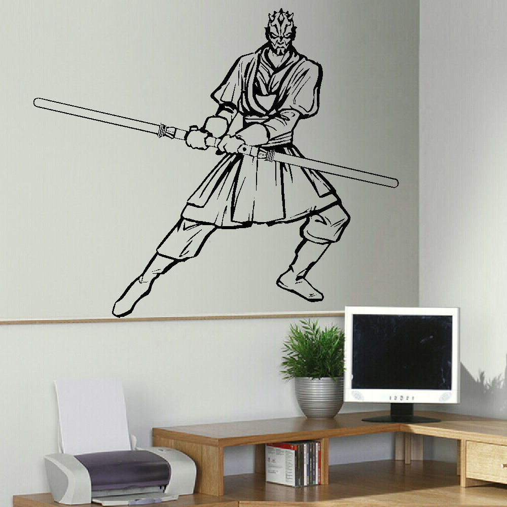 US $10.0 |LARGE DARTH MAUL STAR WARS BEDROOM WALL ART STICKER MURAL  TRANSFER VINYL DECAL-in Wall Stickers from Home & Garden on Aliexpress.com  | ...