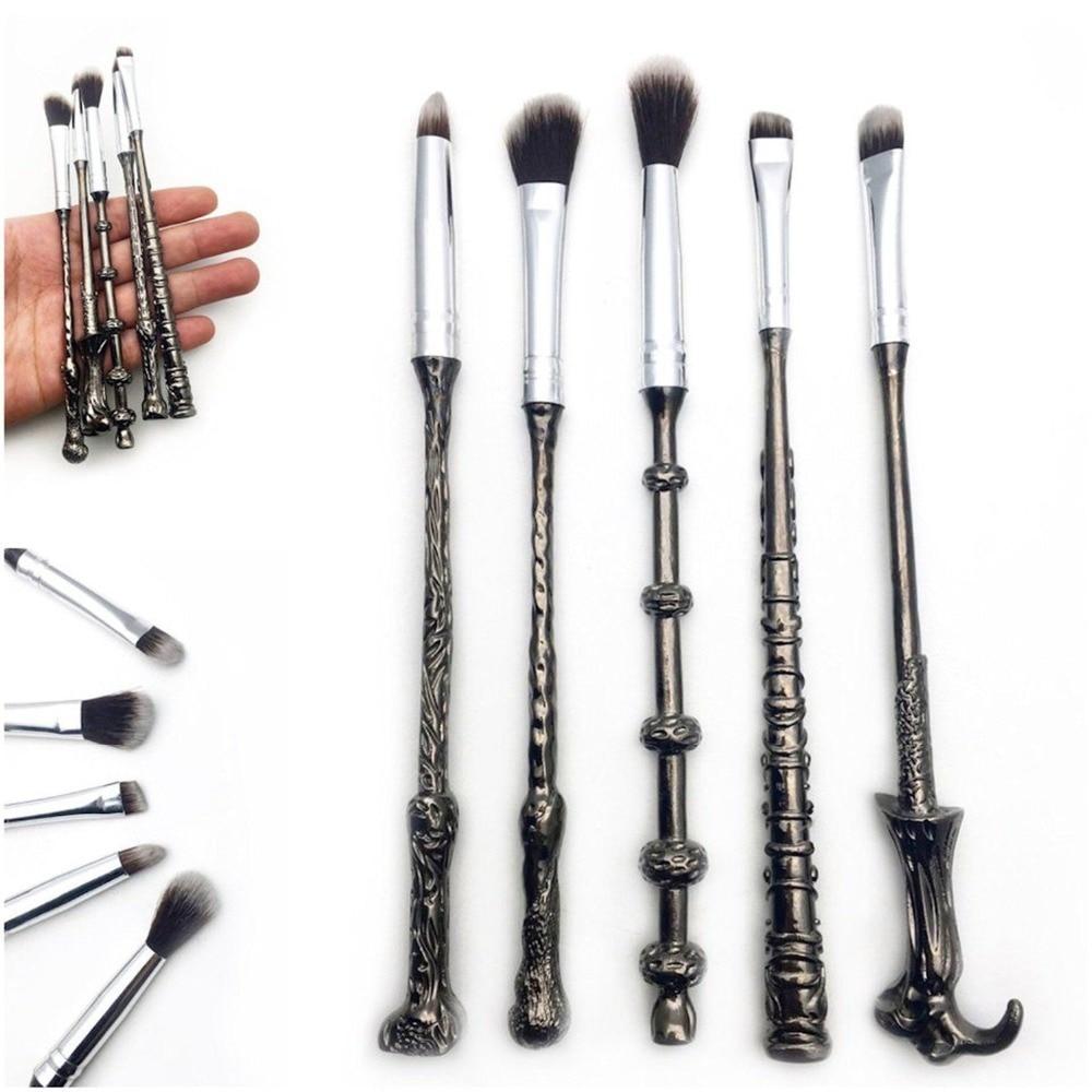 2018 Hot Sale New Arrive Metal Silver 5PCS Makeup Brushes Set Cosmetic Brush Foundation Eyeshadow Lip Eye Make up Brushes Tools memunia new arrive hot sale genuine