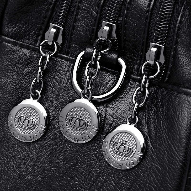 Женские кожаные сумки, винтажные мягкие кожаные женские сумки через плечо, дизайнерские Брендовые женские сумки с высокой вместительностью и ручками