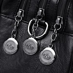 Image 5 - Torebki damskie skórzane Vintage miękkie skórzane damskie torby na ramię Crossbody projektant marki damskie torby z uchwytami o dużej pojemności