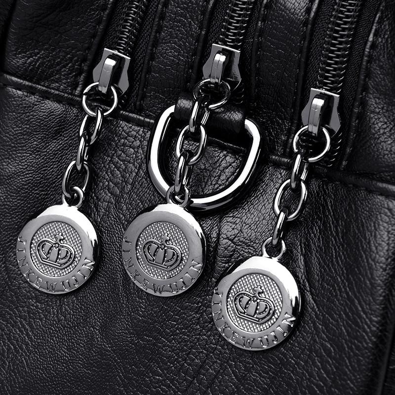 Image 5 - Women Leather Handbags Vintage Soft Leather Female Crossbody Shoulder Bags Designer Brand Ladies High Capacity Top Handle BagsShoulder Bags   -